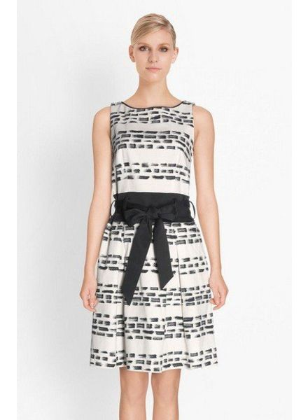 Esprit White Belted Dress