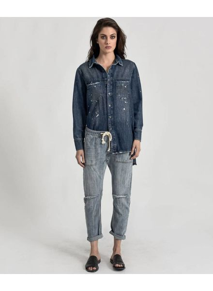One Teaspoon Shabbies Drawstring Boyfriend Jean