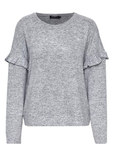Soaked In Luxury Viscia Frill Sweatshirt