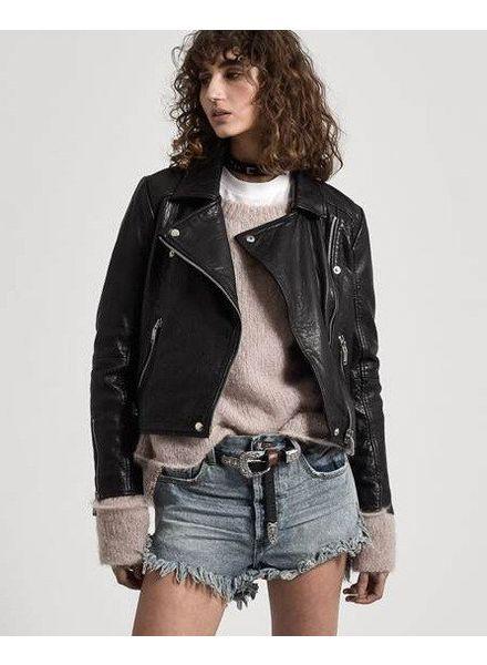 One Teaspoon SUP Textured Leather Jacket