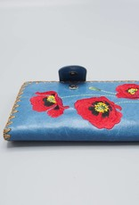 Lavishy Large Embroidered Poppies Wallet