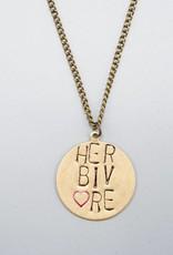 Herbivore Circle Necklace by Mishakaudi Jewelry