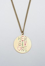 Herbivore Circle Rainbow Necklace by Mishakaudi Jewelry