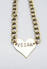 Vegan Heart Bracelet by Mishakaudi Jewelry