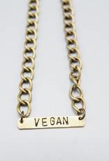 Vegan Bar Bracelet by Mishakaudi Jewelry