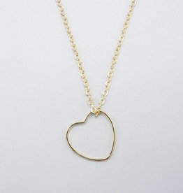 Mishakaudi Delicate Heart Necklace