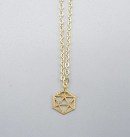 Mishakaudi Small Hexagon Necklace