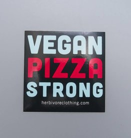 Vegan Pizza Strong Sticker