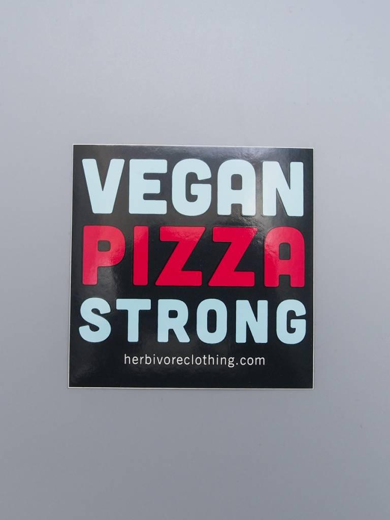 Vegan Pizza Strong Sticker