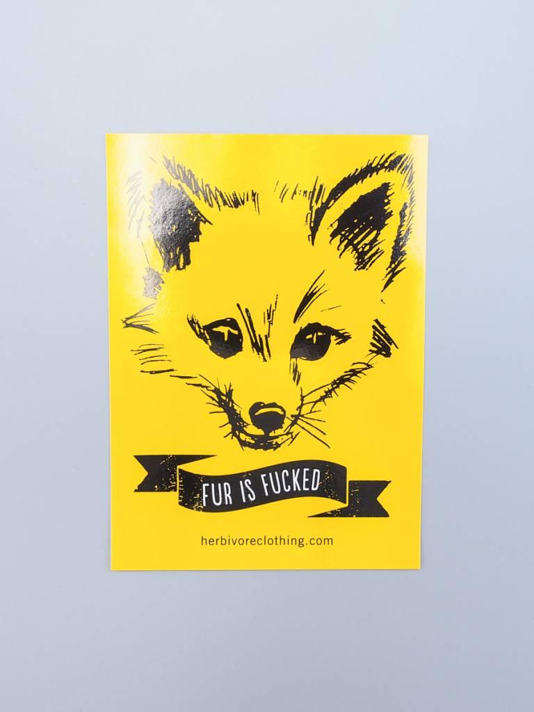 Fur is Fucked Sticker