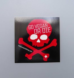 Go Vegan or Die Sticker