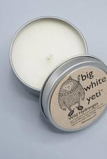 Big White Yeti Candle