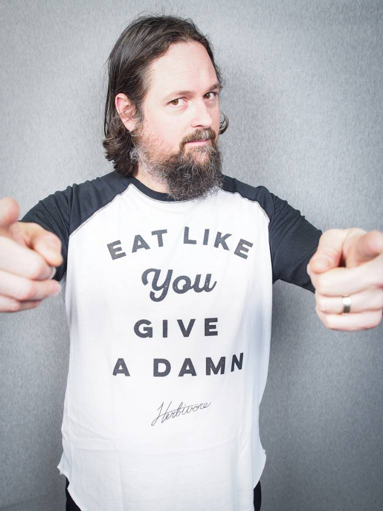 Eat Like You Give A Damn Unisex Baseball Tee