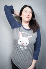 I'm Vegan and I Love You Bunny Unisex  Baseball Tee