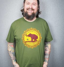 Good Luck Elephant Green Tee