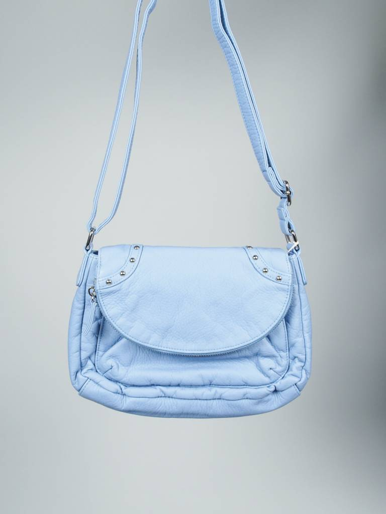 Follow Me Flapover Crossbody in Blue
