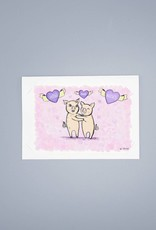 Out To Pasture Hogs and Kisses Card