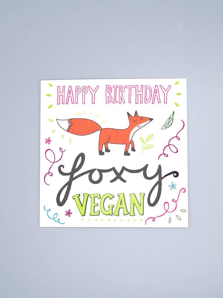 Birthday Foxy Vegan Card