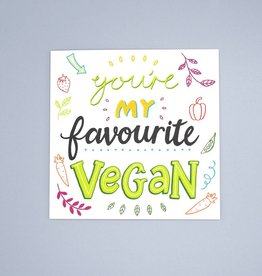 Favourite Vegan Card