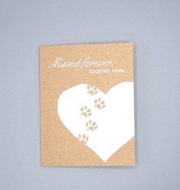 Missed Forever, Forgotten Never Card