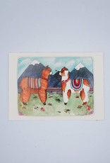 Llama Mountain Card