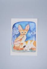 Fennec Foxes Card