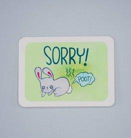 Sorry! Bunny Card