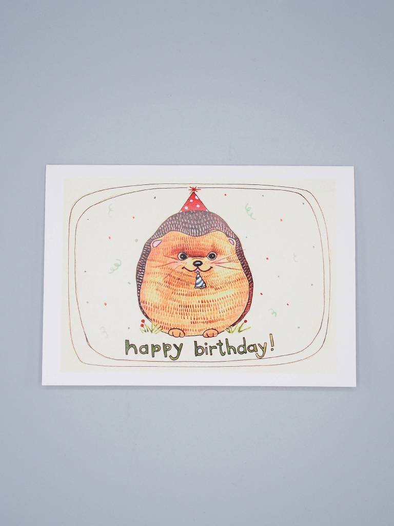 Happy Birthday Hedgehog Card