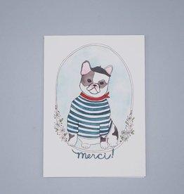 Merci! French Bulldog Card