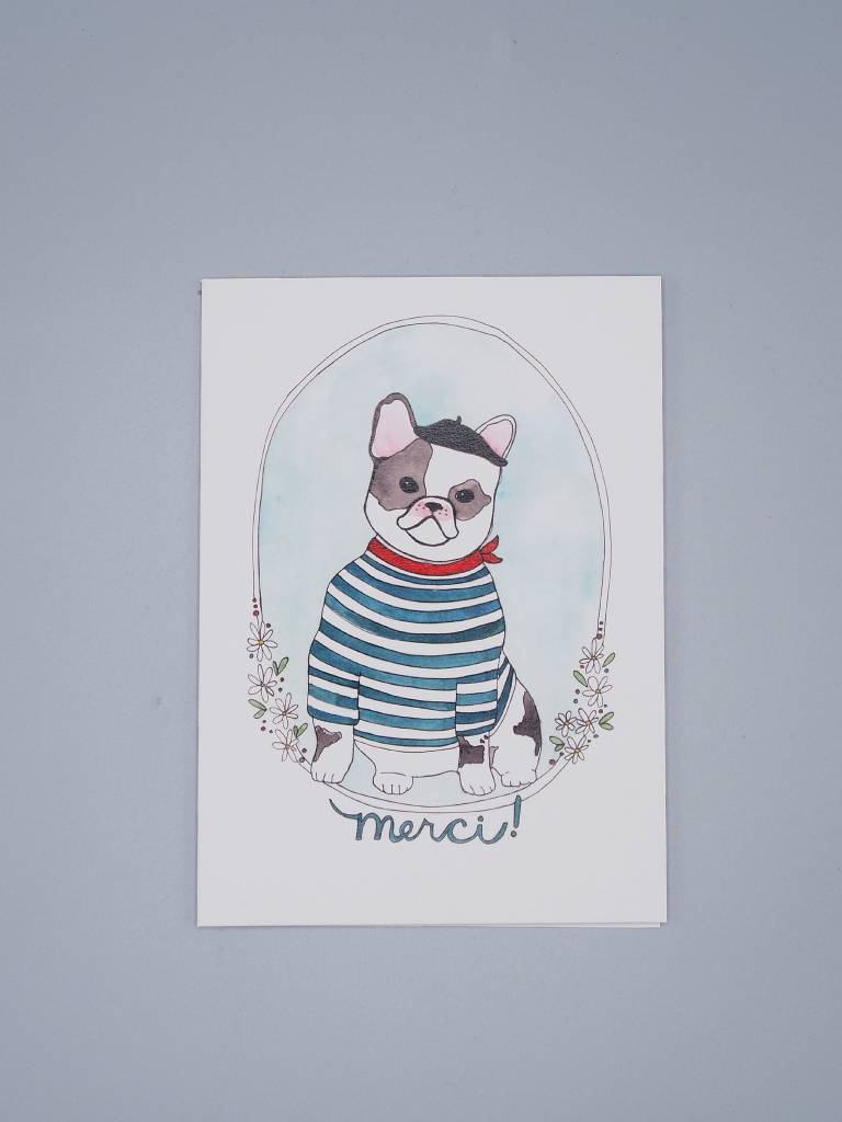 Merci! French Bulldog Card