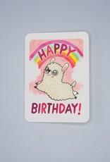 Rainbow Llama Birthday Card