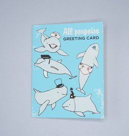 All Porpoise Greeting Card
