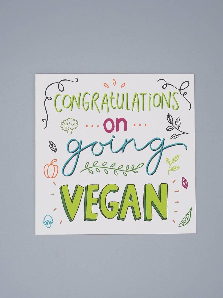 Congratulations on Going Vegan Card