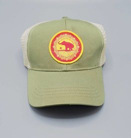 Good Luck Elephant Green Eco-Snapback Hat