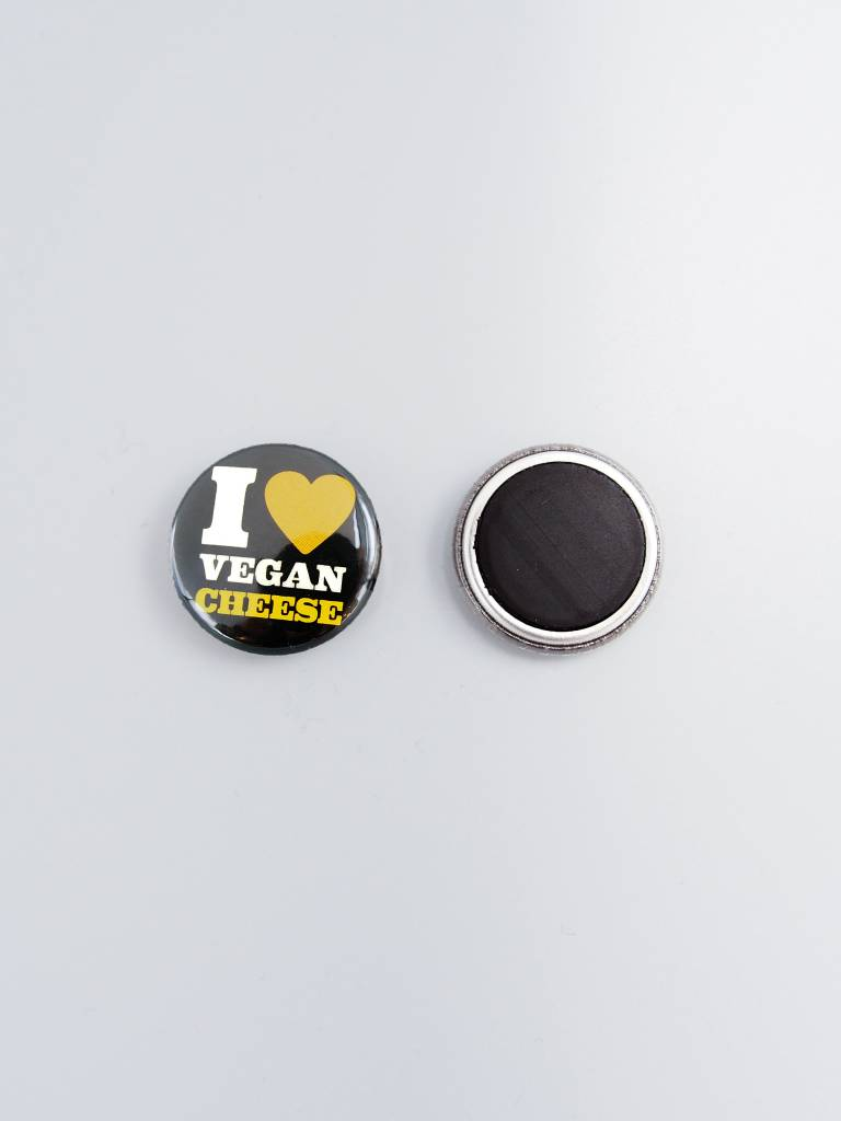 "I Heart Vegan Cheese 1"" Magnet"