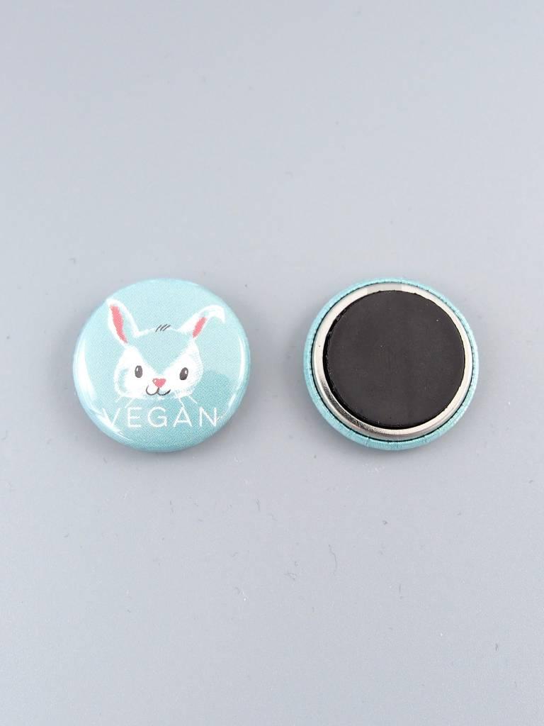 "Vegan Bunny 1"" Magnet"