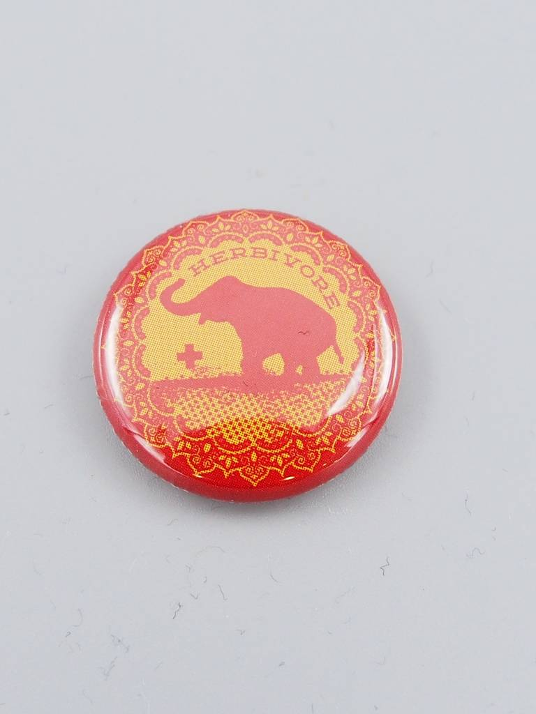 Good Luck Elephant Button