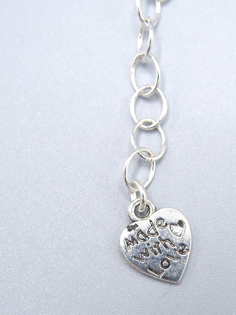 Vegan Script Metal Necklace by Beth Redwood
