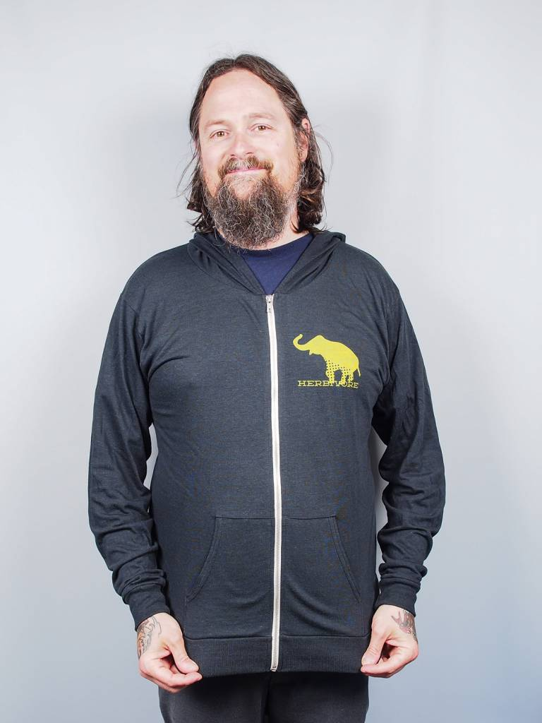 Good Luck Elephant Eco Jersey Zip-Up Hoodie