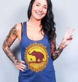 Good Luck Elephant Racerback Tank Top Indigo