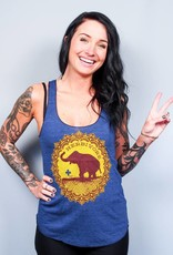 Good Luck Elephant Indigo Racerback Tank Top