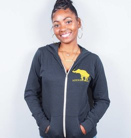 Good Luck Elephant Eco Jersey Zip-Up Hoodie