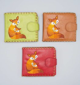 Lavishy Small Embroidered Foxes Wallet