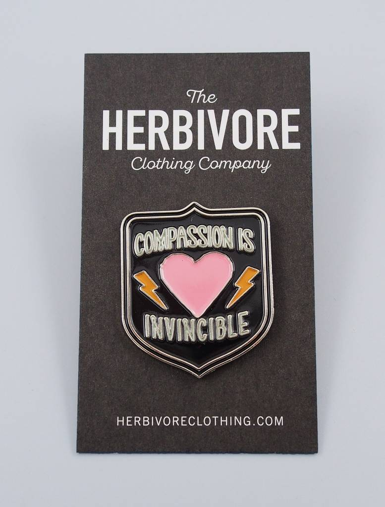 Compassion Is Invincible Enamel Pin