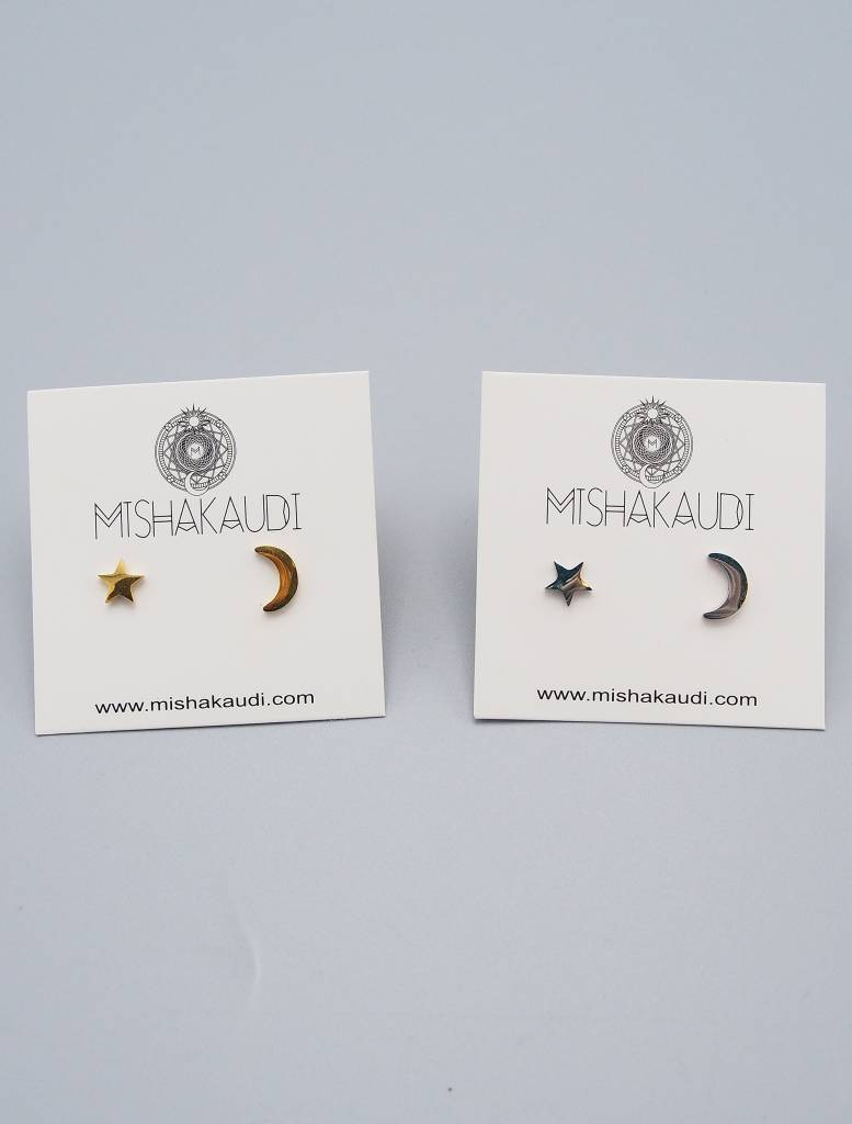 Moon & Star Earring by Mishakaudi