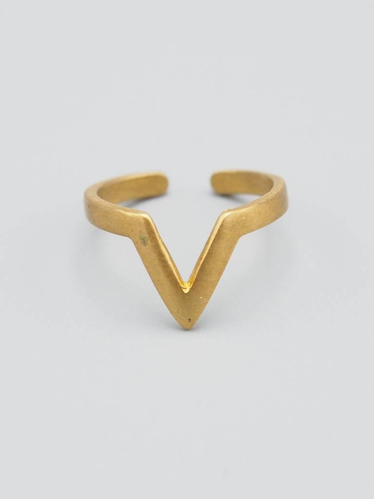 V Brass Ring