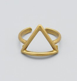 Triangle Brass Ring