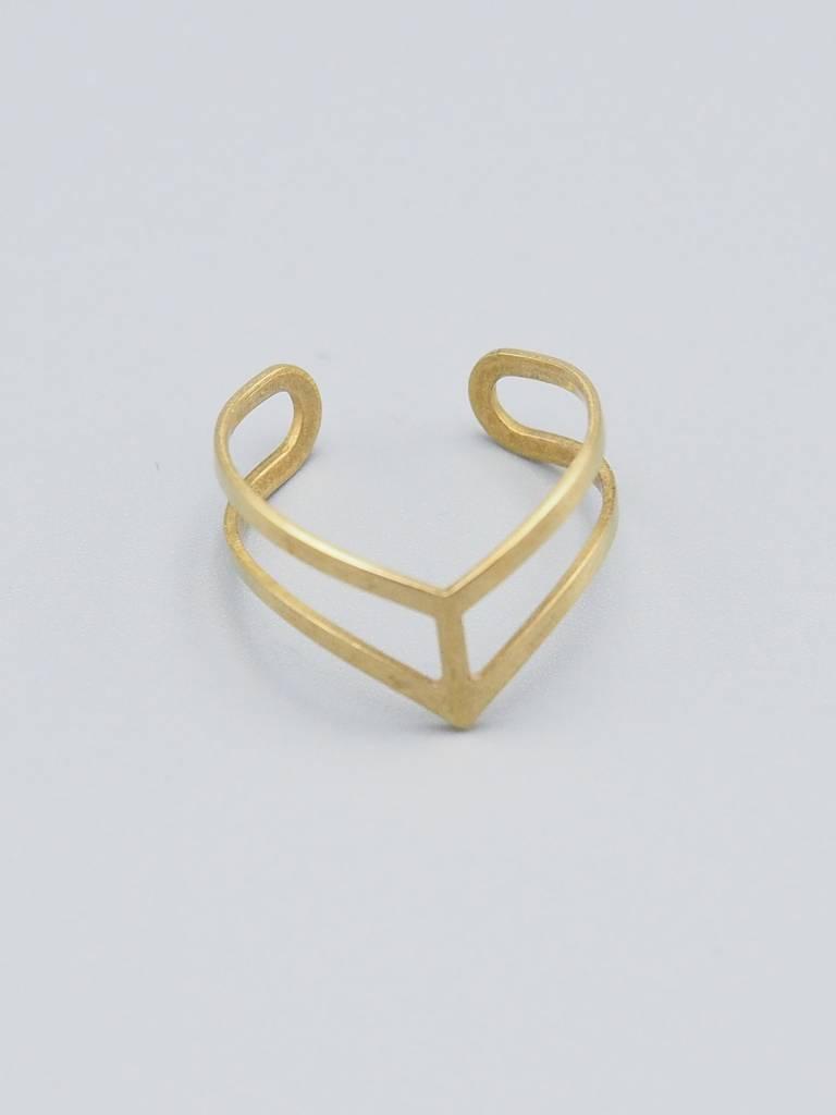 Chevron Brass Ring