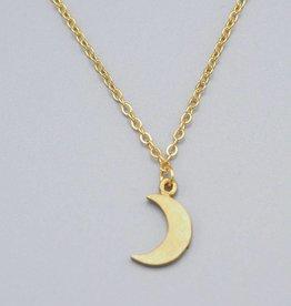 Mini Moon Brass Necklace by MIshakaudi