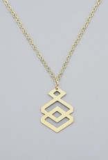 Geometric Rhombus Necklace by Mishakaudi